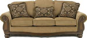wood trim sofa sofas with wood trim accents furniture