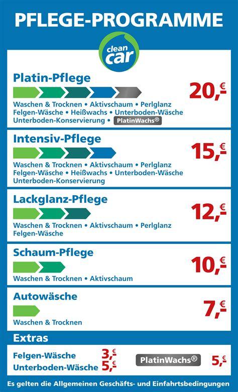Mr Wash ölwechsel Preisliste by Cleancar M 252 Lheim A D R
