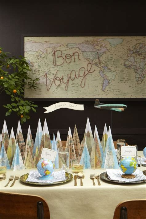 themes party farewell love the mountains made from maps lovely destination