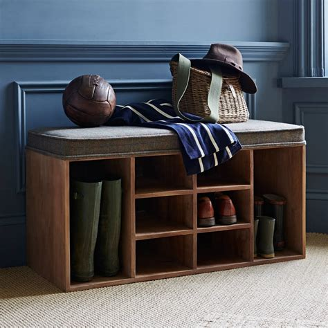 bench for shoes storage shoe storage bench by within home notonthehighstreet com