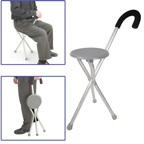 Portable Walking Chair Stool by Portable Folding Foldable Crutch Can End 3 26 2020 2 09 Am