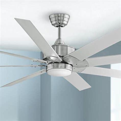fanimation levon 63 inch brushed nickel ceiling fan 63 quot fanimation levon dc brushed nickel led ceiling fan