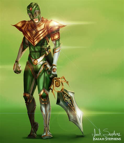 painting power rangers green ranger by isaiahstephens on deviantart