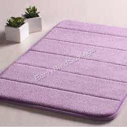 Non Slip Bathroom Rugs New Memory Foam Bathroom Bath Non Slip Soft Touch Mat Rug Carpet Rebound Purple Ebay