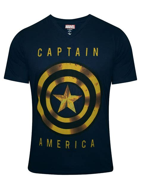 T Shirt Captain America Navy buy t shirts captain america navy v neck t shirt