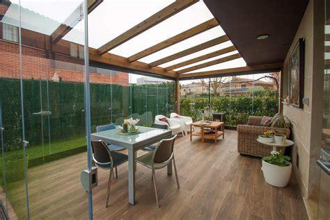 porche jardin porche de madera con cerramiento de cristal proyectos
