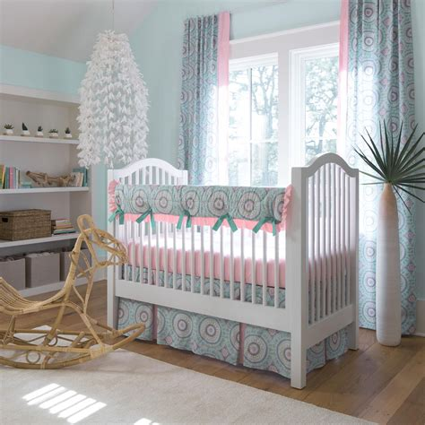 aqua haute baby crib rail cover carousel designs