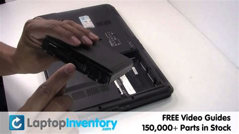 Asus Laptop Take Out Battery asus k50 k60 battery replacement laptop notebook install guide replace k61 k62 k70