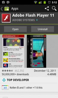 adobe flash player ics apk adobe flash app updated still no sandwich support adobe air does though droid