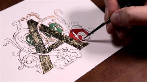disegnare con le lettere lettera miniata