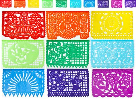 How To Make Mexican Decorations With Tissue Paper - mexican papel picado tissue paper banner one 13 foot