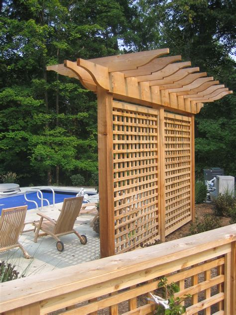privacy pergola pergola trellis and evergreens arbours
