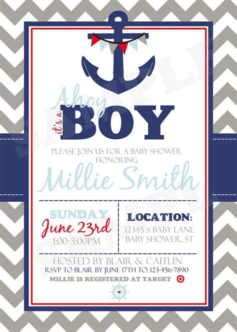 cheap nautical themed baby shower invitations baby shower invitations cheap nautical theme baby shower