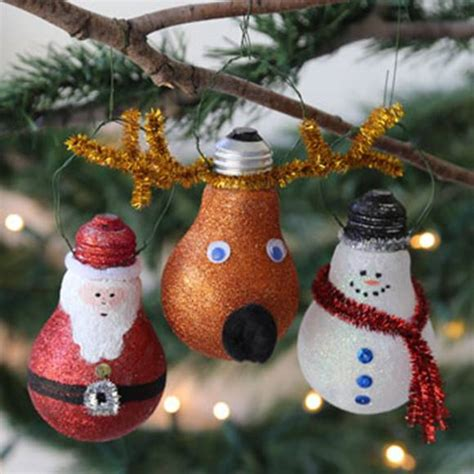 creative christmas ornaments to make creative ideas diy light bulb ornaments