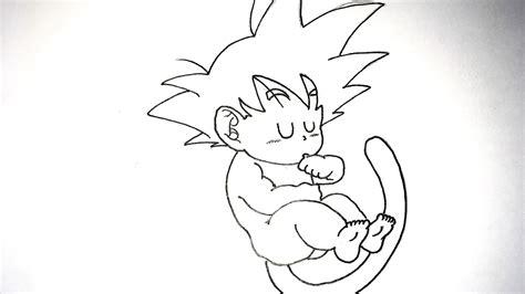 imagenes para dibujar a lapiz faciles de goku dragon ball c 243 mo dibujar a goku beb 233 a l 225 piz paso a paso