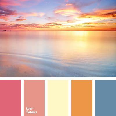 sunset color scheme pink sunset color palette ideas