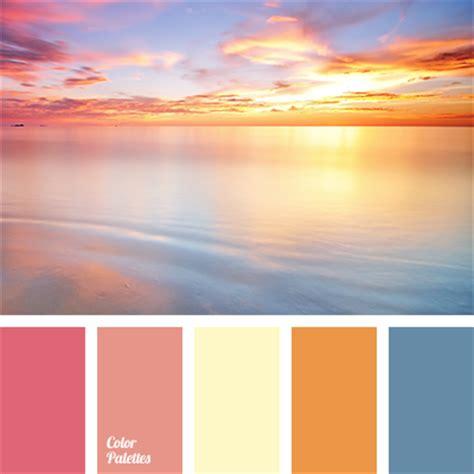 sunset color pink sunset color palette ideas