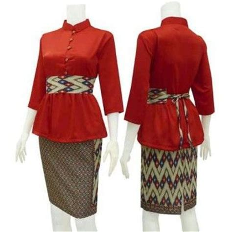 desain dress batik terkini 17 best images about batik on pinterest day dresses red