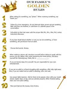 golden rules for the family printable stephanie odea
