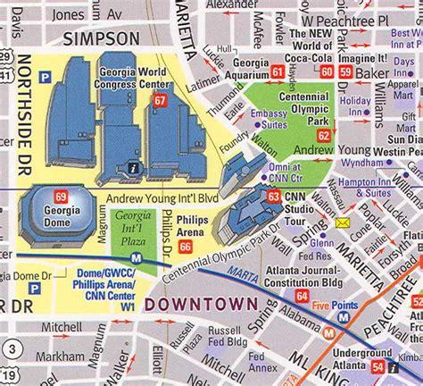 street map of downtown atlanta georgia maps update 7001081 atlanta georgia tourist attractions