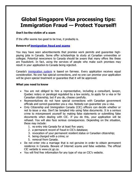immigration fraud fixing loopholes in immigration books global singapore visa processing tips immigration fraud