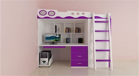 Bunk Beds With Study Table Get Modern Complete Home Interior With 20 Years Durability Joyce Bunk Bed Wardrobe