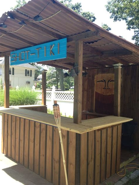 diy tiki bar  hubby built      backyard