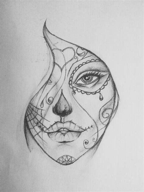 Day Of The Dead Drawings Easy by 41 Best Images About Masque On The Dead
