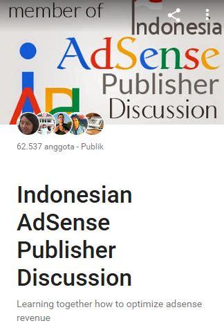 adsense indonesia forum belajar bersama di forum google adsense indonesia blog