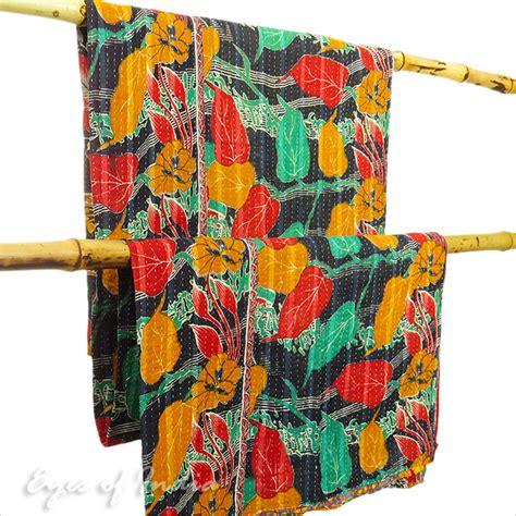 copriletto indiano colorato trapunta coperta copriletto copriletto vintage
