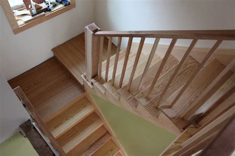How To Build Interior Stairs With A Landing by Stair Awesome Half Landing Maple Wood Stair Designed With