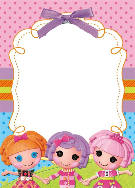 lalaloopsy invitation template party invitations ideas melissa s place lalaloopsey frames
