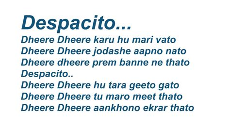 despacito with english lyrics gujarati despacito lyrics mp3speedy net