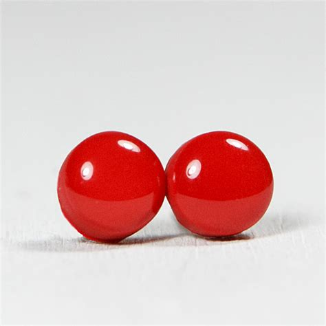 Handmade Studs - ruby stud earrings studs earrings handmade