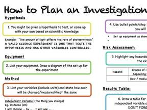 Science Experiment Report Template how to plan an investigation experiment in science by