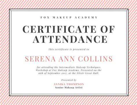 certificate of attendance seminar template certificate of attendance seminar template certificate