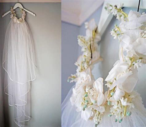 Floral Wedding Veil white bridal veil vintage boho flower crown veil