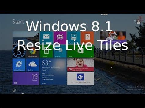 youtube tutorial windows 8 1 resize live tiles start screen icons windows 8 1