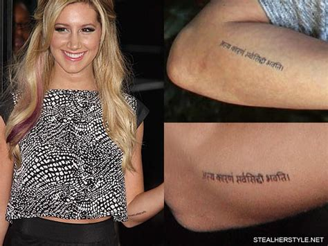 ashley tisdale tattoo tisdale s tattoos meanings style