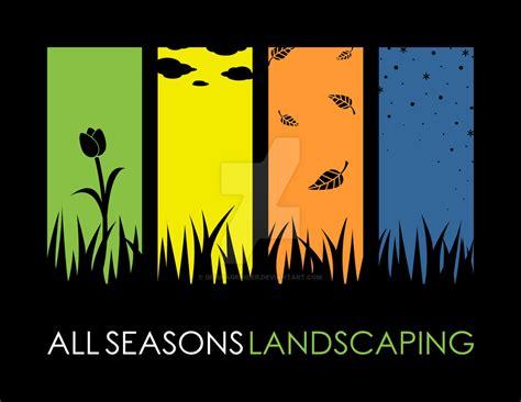 all seasons landscaping all seasons landscaping logo by geishagrinder on deviantart