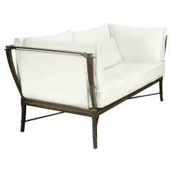 modern metal white outdoor loveseat sofa