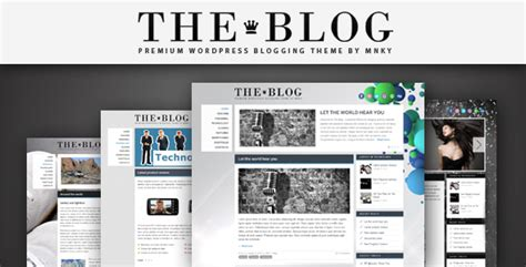 best wordpress themes video blog the blog wordpress theme by mnky themeforest