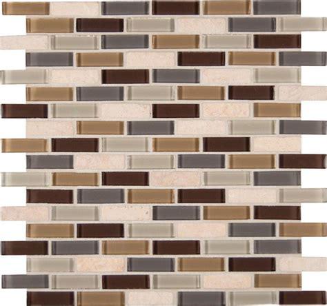 mesh tile backsplash msi ulc luxor valley brick patter glass mesh