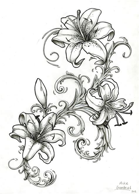 japanese lily tattoo designs 25 best ideas about design on