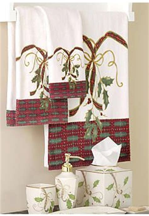 christmas shower curtains and towels 1000 images about lenox christmas bathroom on pinterest