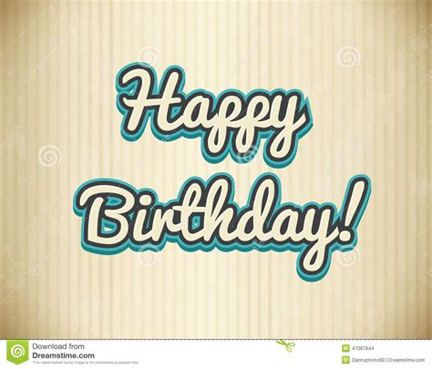happy birthday in text design happy birthday design stock vector illustration of brown