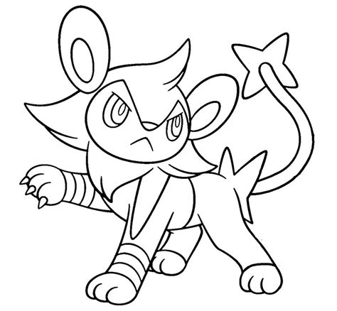 pokemon coloring pages luxray pokemon shinx coloring pages images pokemon images