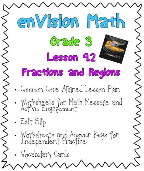 Envision Math 3rd Grade Worksheets by 1000 Images About 3rd Grade Math On Third