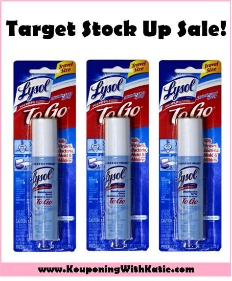 stock  sale  lysol   disinfecting spray kouponing  katie
