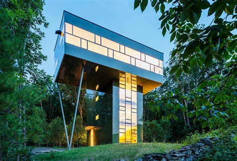 gluck s tower house is an ultra modern treehouse for a